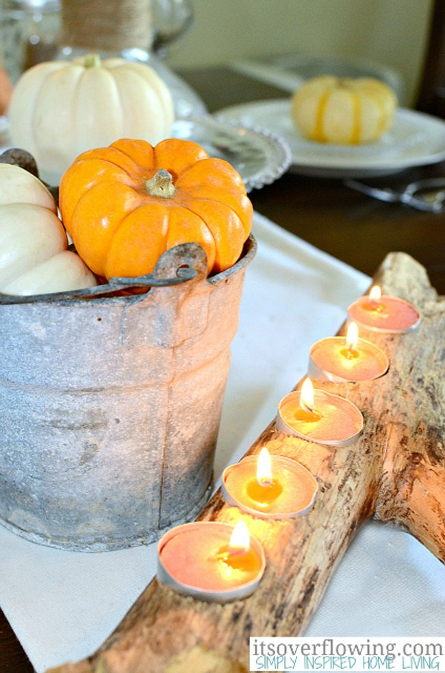 Simple DIY Candle Holder, Simple Fall Decor Ideas