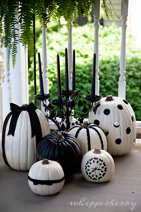 Black and White Pumpkins 31 Fabulous Pumpkin Decorating Ideas