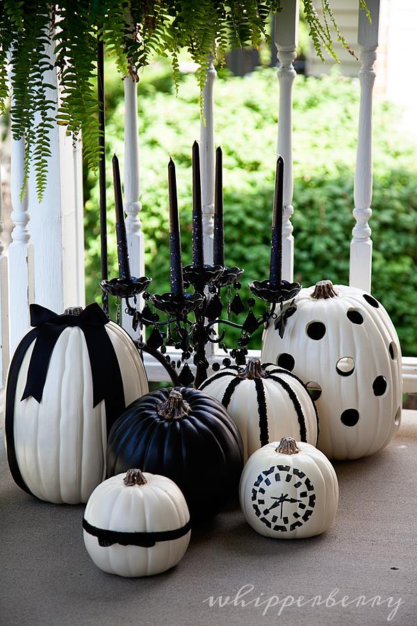 Black and White Pumpkins 31 Fabulous Pumpkin Decorating Ideas