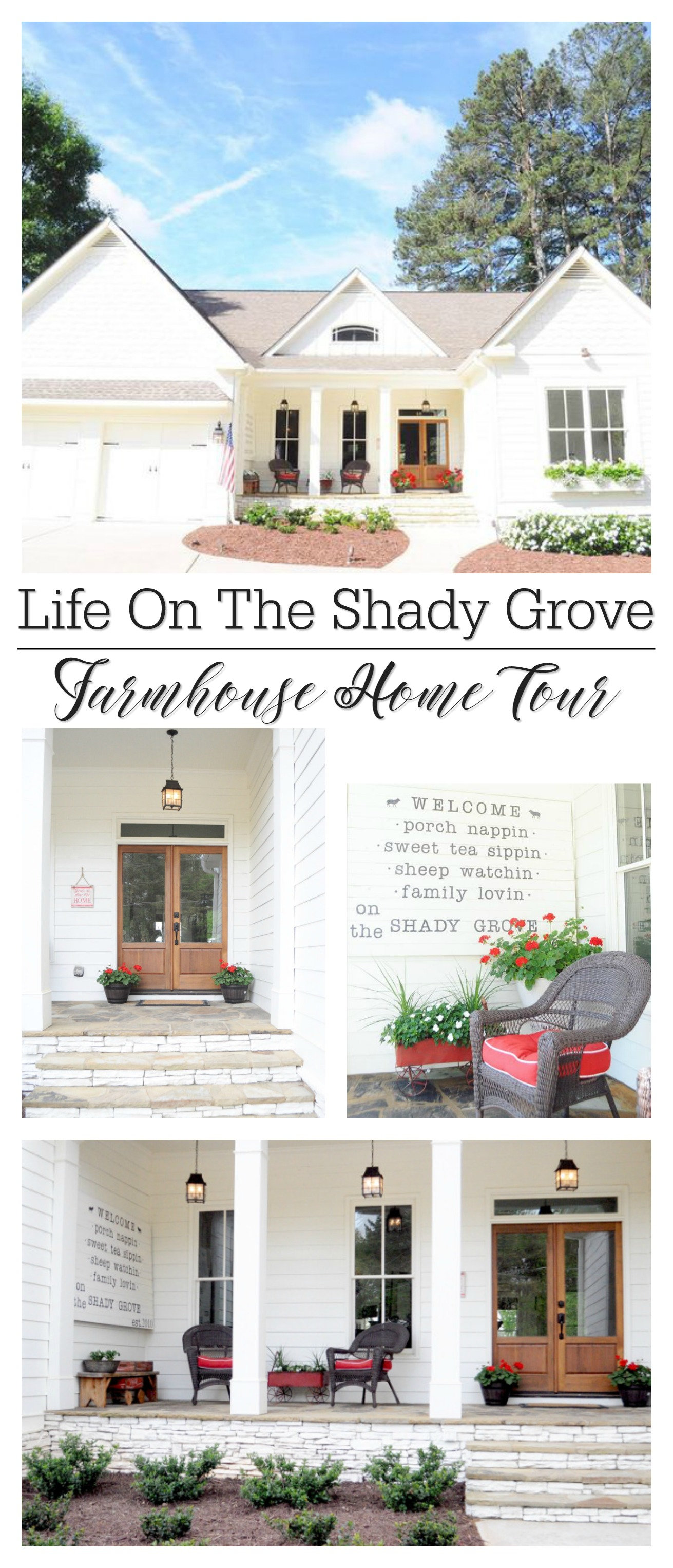 White cottage farmhouse home tour, full of vintage finds and lots of DIY!
