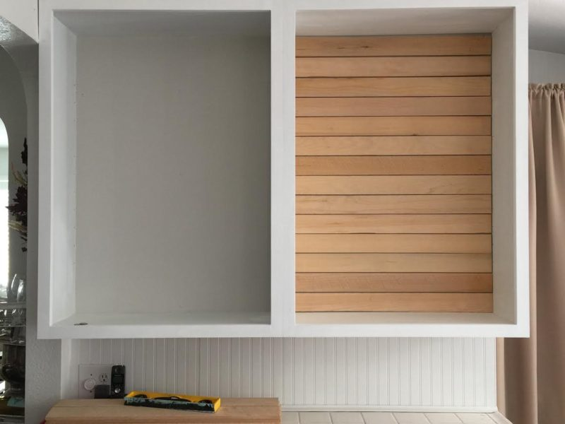 Simple Shiplap: How To DIY a Planked Wall with No Nails at foxhollowcottage.com
