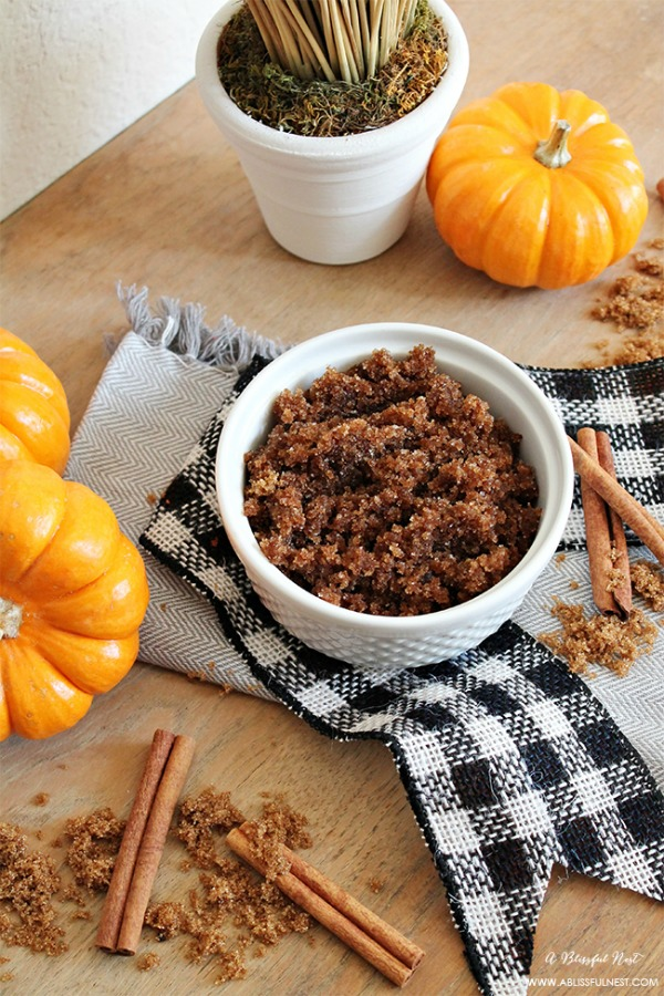 A Blissful Nest, Pumpkin Pie Sugar Scrub Recipe, 20 Ways to Make Thanksgiving Extra Special via Fox Hollow Cottage