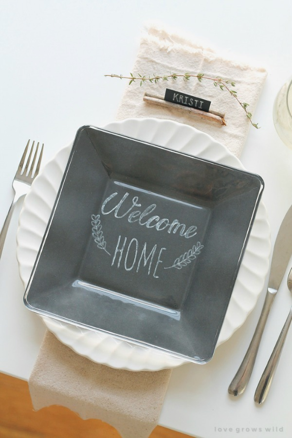 Love Grows Wild, Personal Plate Settings, 20 Ways to Make Thanksgiving Extra Special