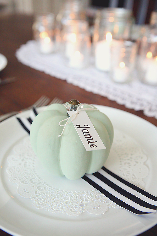 Eighteen 25, Pumpkin Placecard Settings, 20 Ways to Make Thanksgiving Extra Special