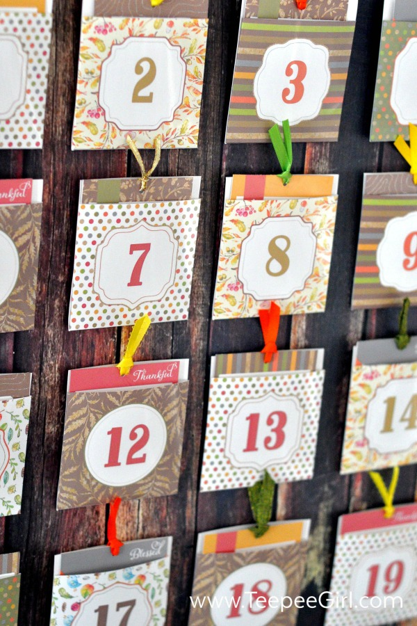 Teepee Girl, Gratitude Advent Calendar, 20 Ways to Make Thanksgiving Extra Special