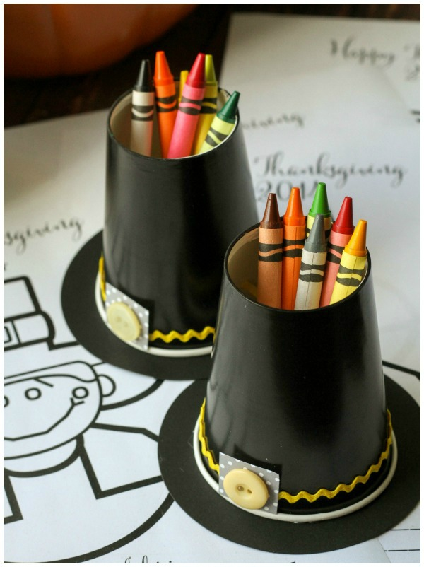 Lil Luna, Pilgrim Hat Crayon Cup, 20 Ways to Make Thanksgiving Extra Special