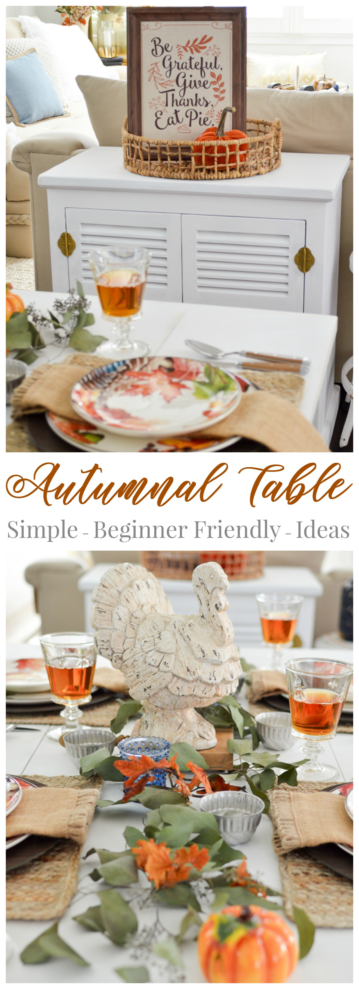 Thanksgiving Table Setting Decorating Ideas