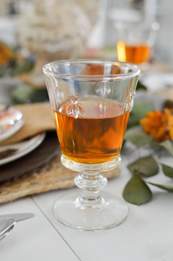 Budget and Beginner Friendly Thanksgiving Table | La Rochere Abeilles Napoleon Bee Wine Glass