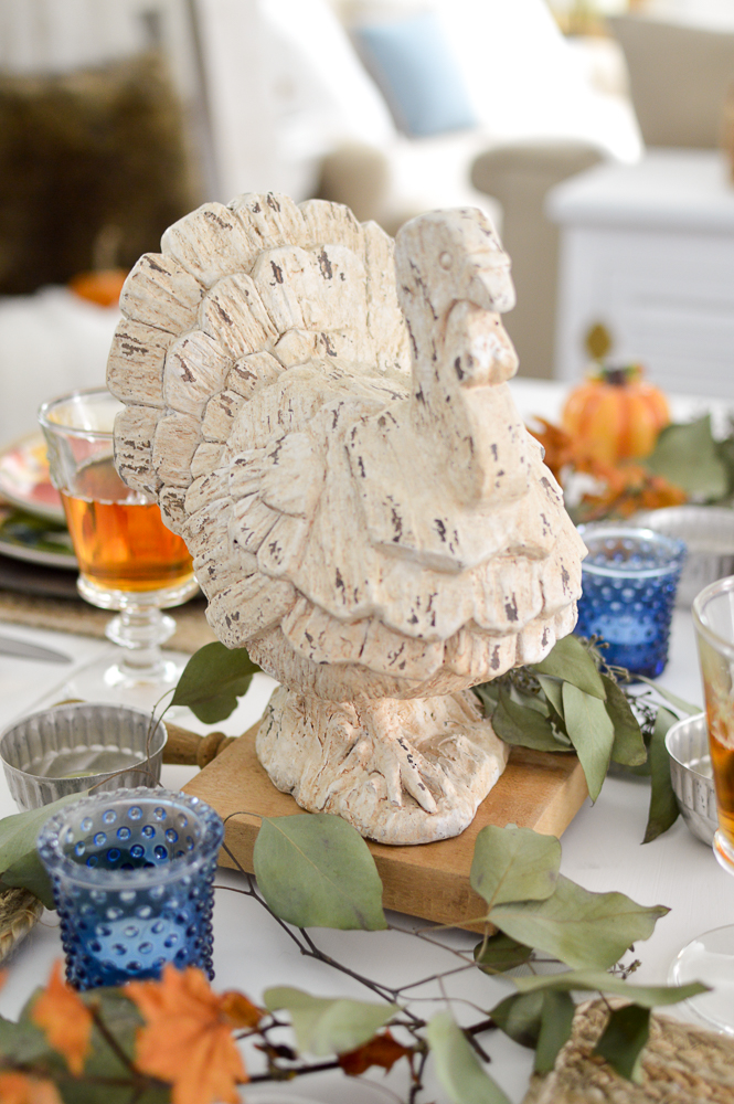 Holiday table, Turkey centerpiece | Budget and Beginner Friendly Thanksgiving Tablescape