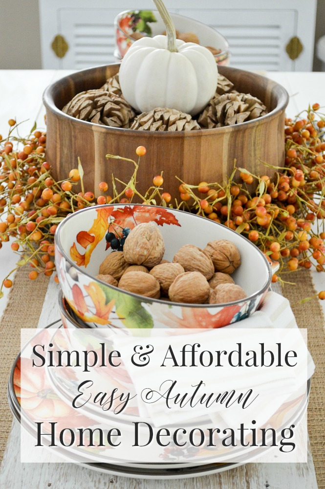 Autumn Home Decorating Simple Fall Table