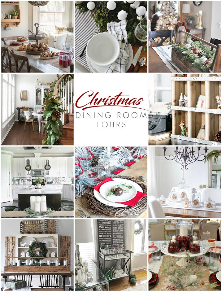 Cottage Farmhouse Christmas Dining Room - Dining Room Tours