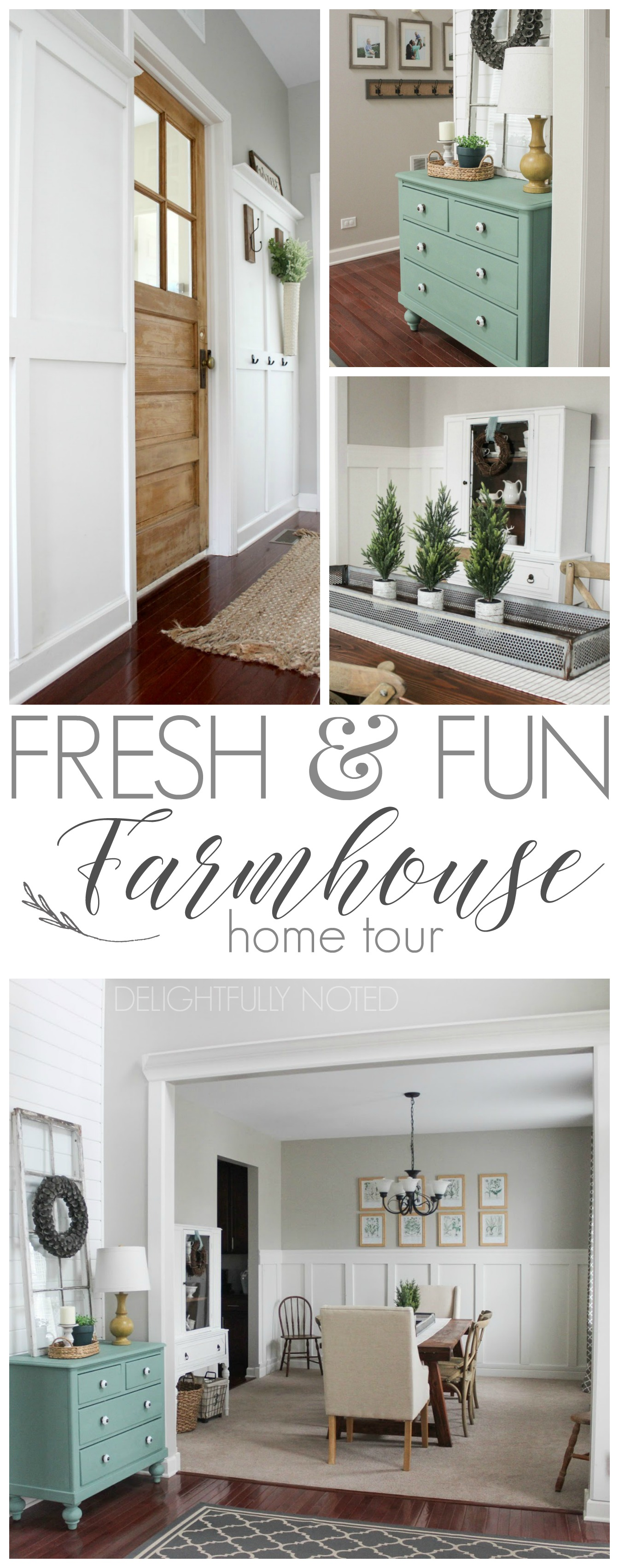 Delightfully Farmhouse Flavored Home Tour | Fresh & fun with a modern twist, this suburban Chicago dwelling it full of diy style!