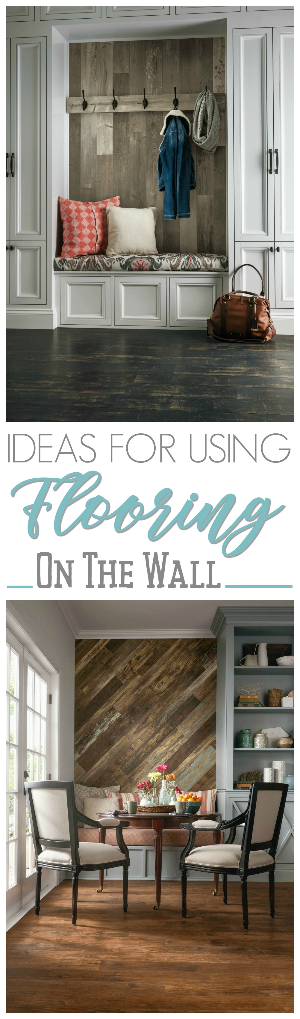 Wood Feature Wall Ideas wood feature accent wall ideas using flooring - fox hollow cottage