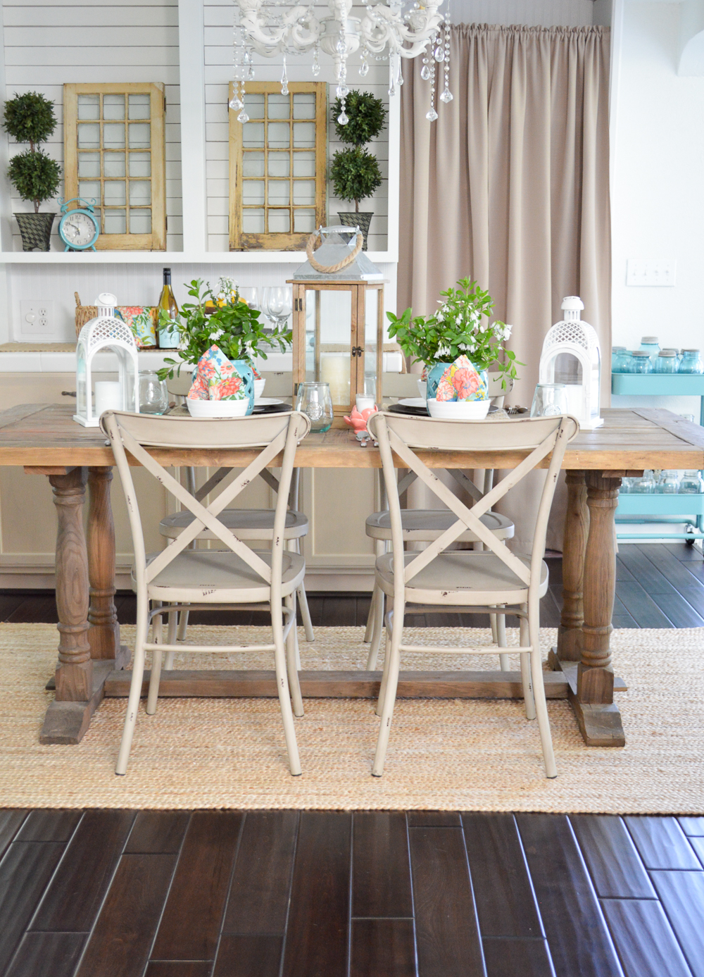 cottage farmhouse table decorating ideas