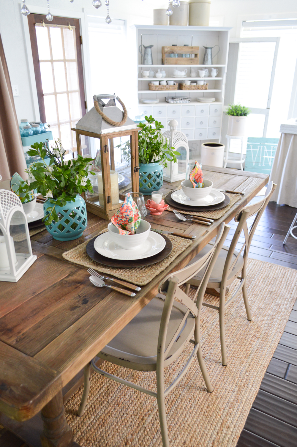 Simple Affordable Cottage Farmhouse Table Decorating Ideas At Fox Hollow