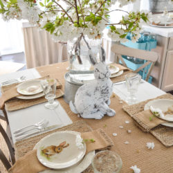 Simple Spring Cottage Farmhouse Easter Table