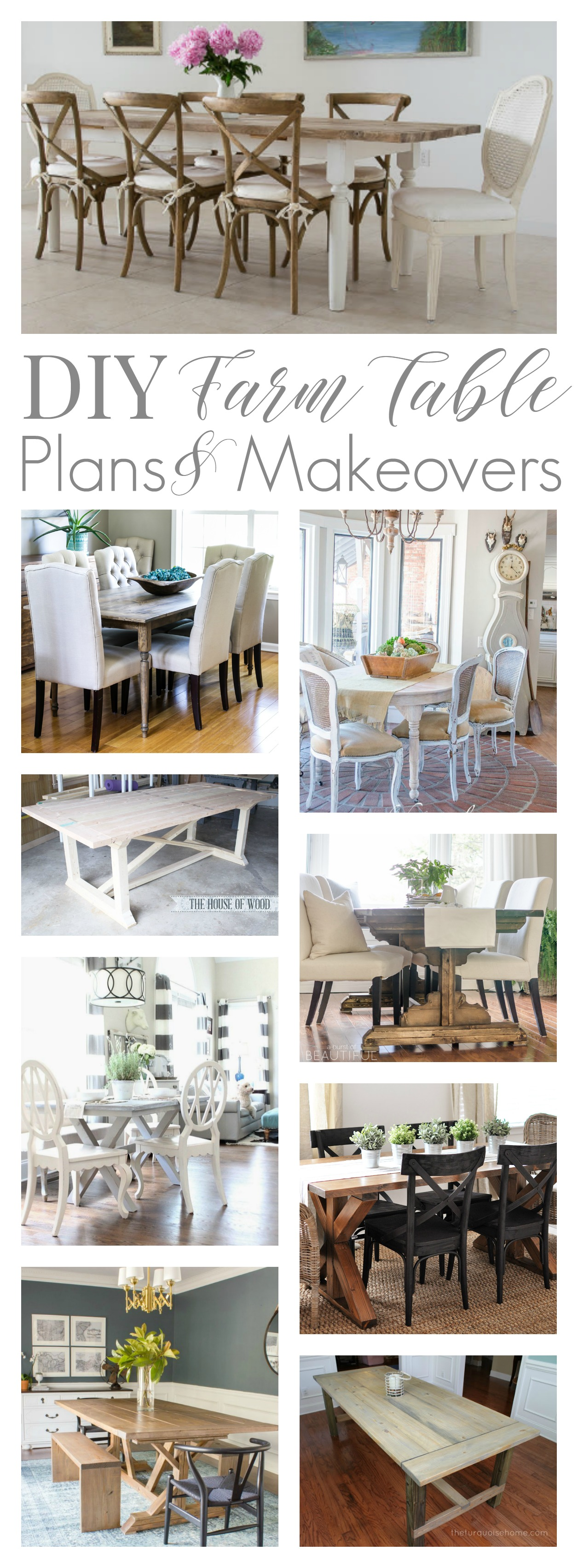 Free Farm Table Tutorial Build Plans and DIY Makeover Ideas
