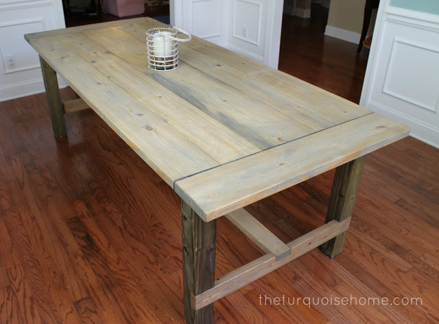 DIY Farm Table Build Plans (this one is under $100) and Makeover Ideas to add Farmhouse Style to Your Home