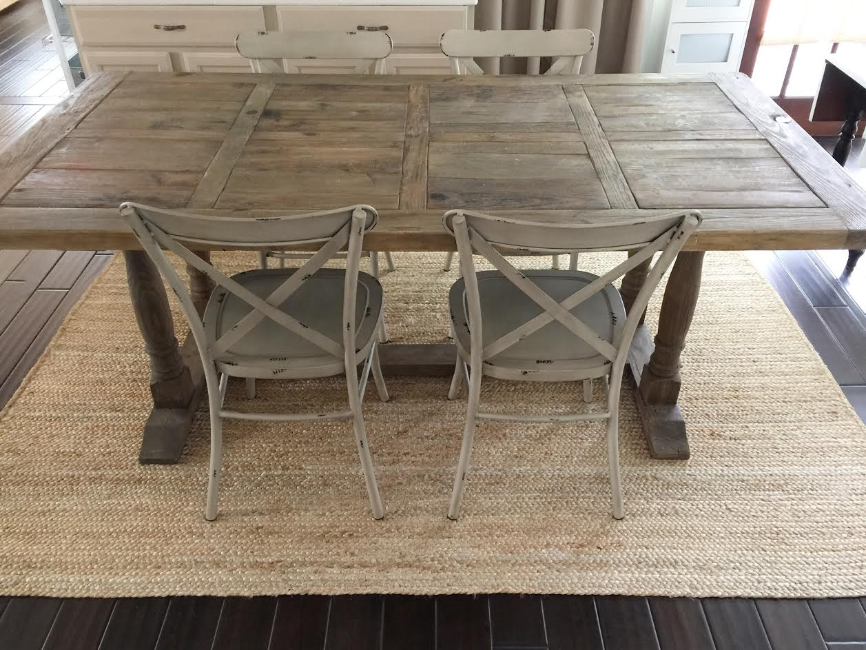 Where To Buy A Farmhouse Trestle Style Farm Table Fox Hollow Cottage - Salvaged wood farmhouse table