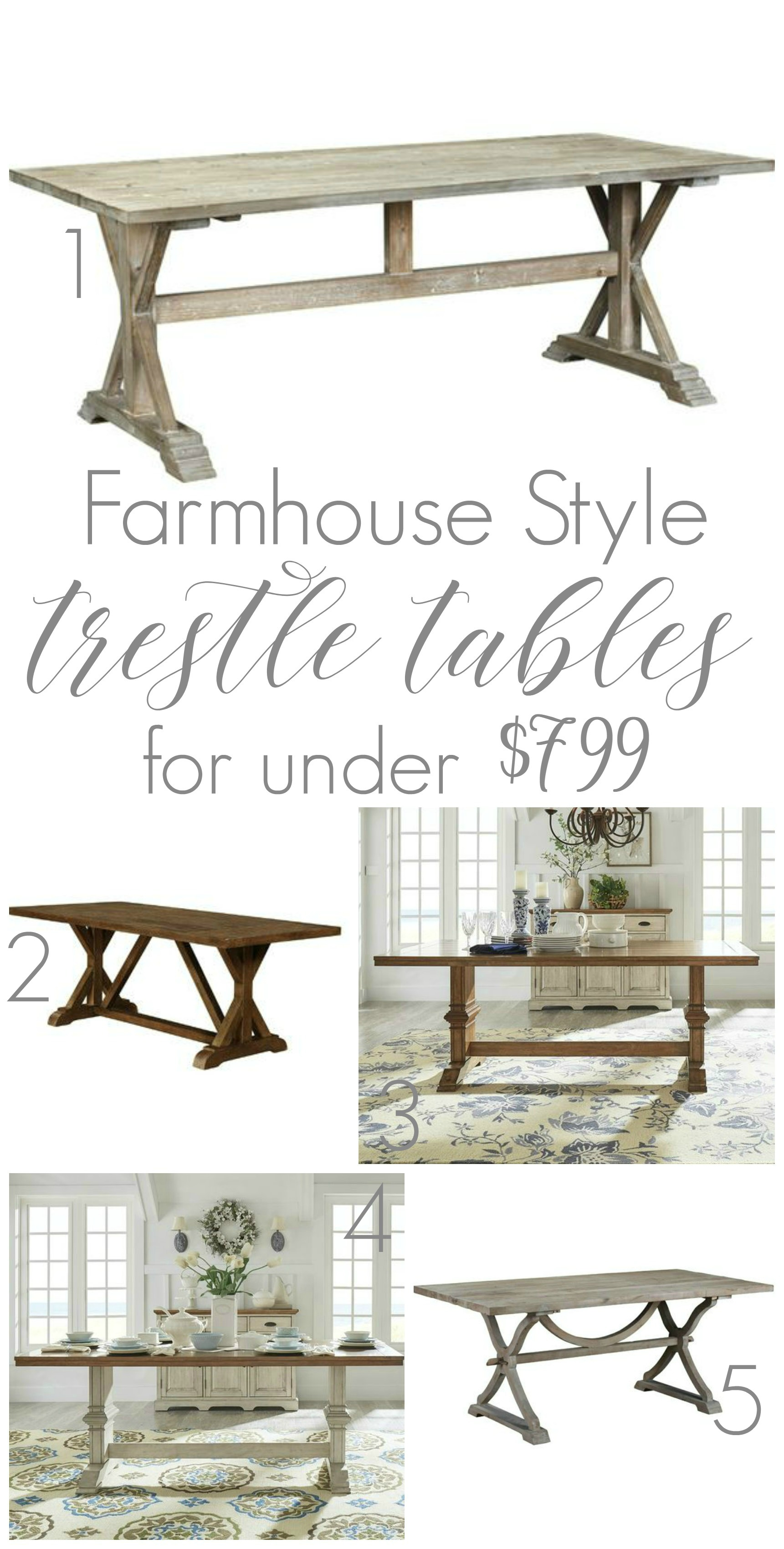 Where To Buy A Farmhouse Trestle Style Farm Table