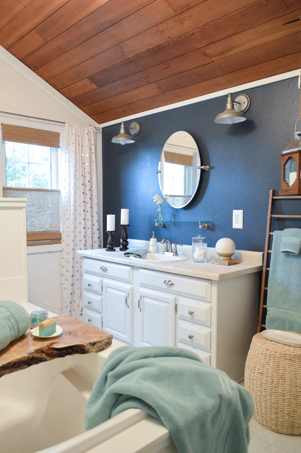 Aqua Summer Bathroom Refresh | Better Homes & Gardens thick and plush bath collection, in aquifer. #ad