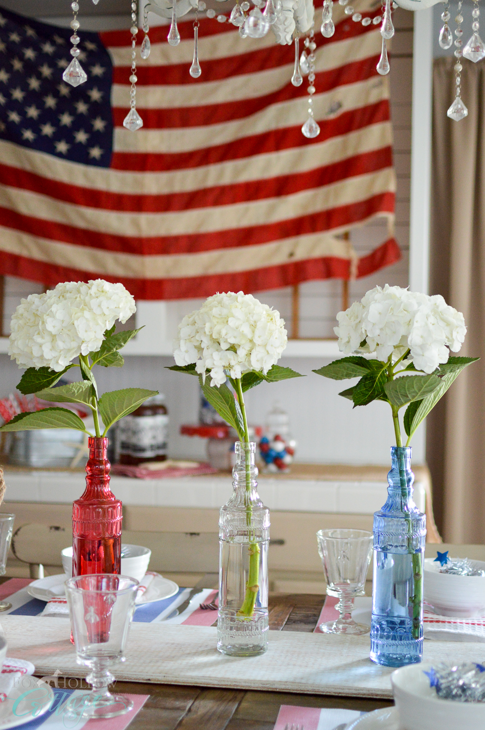 Dollar Tree, Affordable and Easy - Simple 4th of July Table Decorating Ideas with Vintage, Cottage, Farmhouse style!