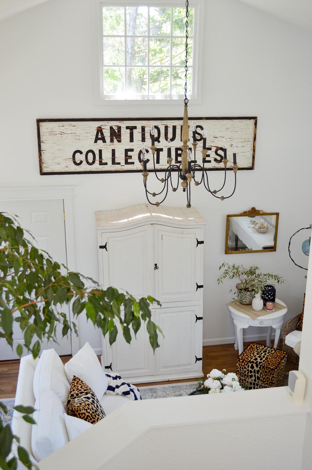 Guest Cottage Living Room Makeover Reveal, Chandelier from Home Depot   Living Room Makeover Reveal (at The Little Cottage)