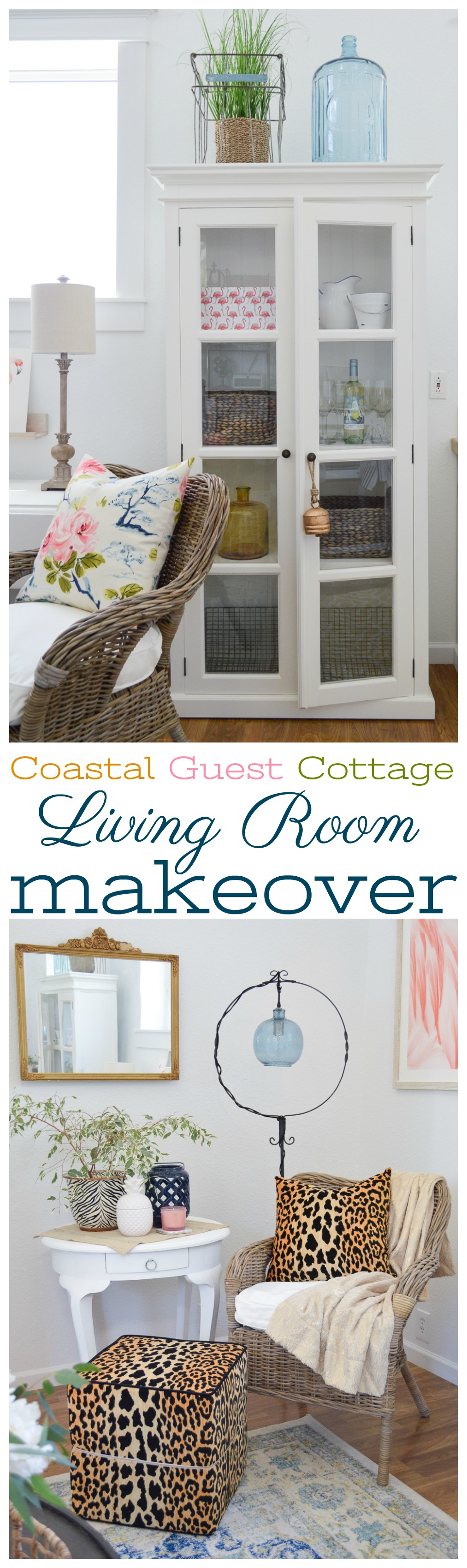 Living room makeover reveal at the little cottage - foxhollowcottage.com