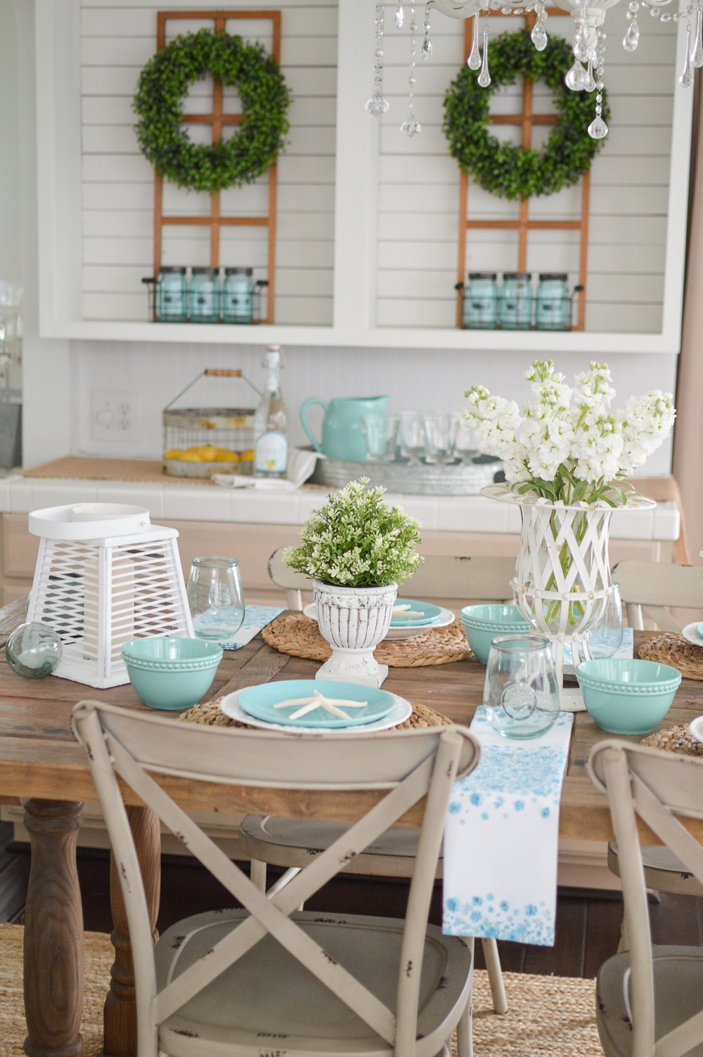 Summer farm table decorating ideas for Table design ideas
