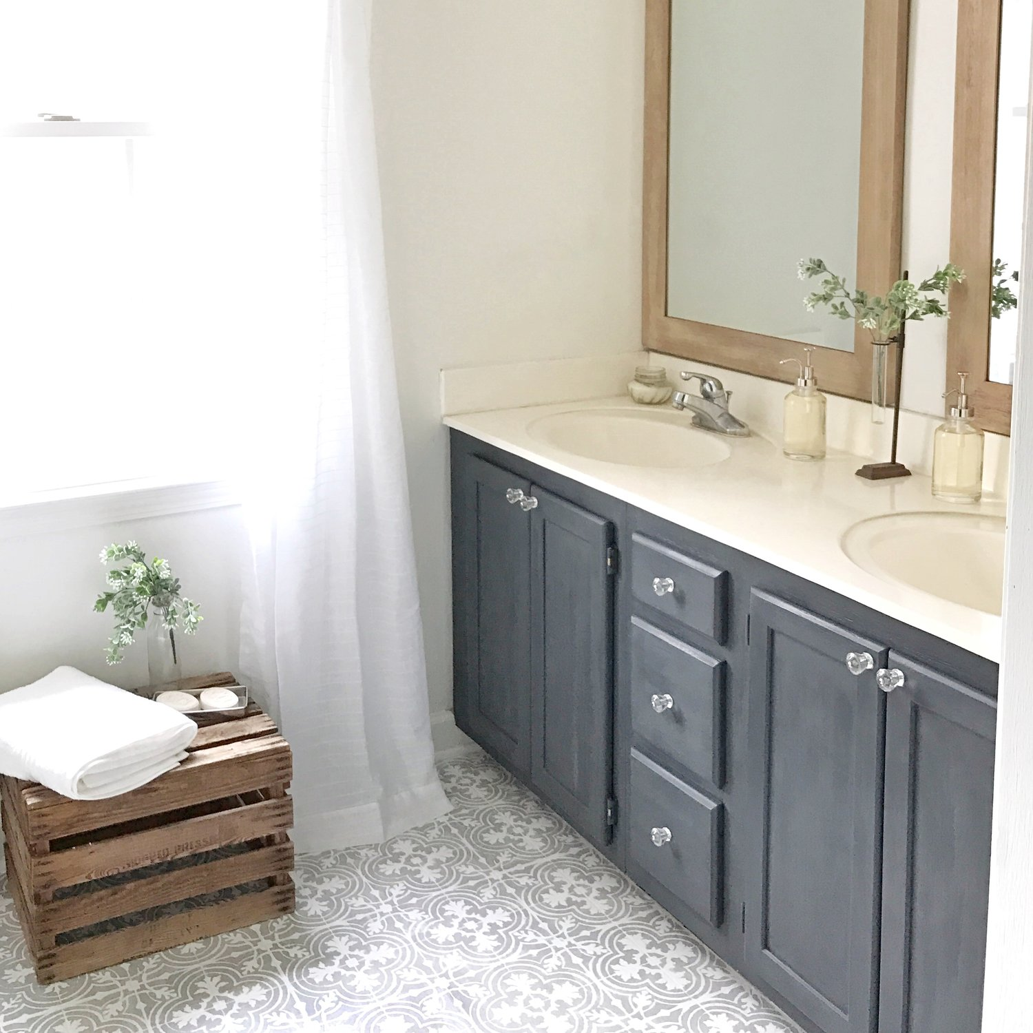 Bathroom Faux Paint Ideas Painted Vinyl Linoleum Floor Makeover Ideas Fox Hollow