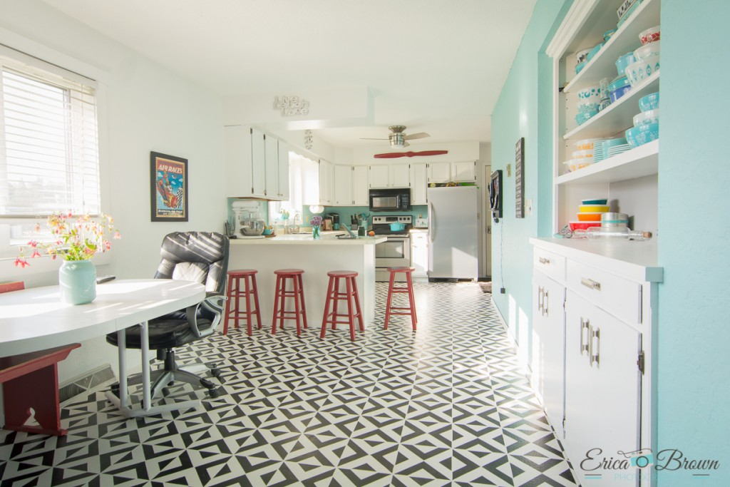 Painted Vinyl Linoleum Floor Makeover Ideas Fox Hollow Cottage