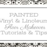 Painted Vinyl Linoleum Floor Makeover Ideas