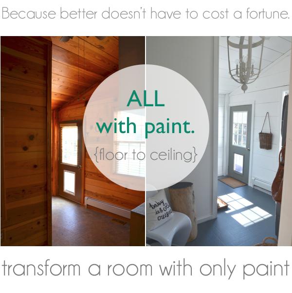 The Nester Painted Linoleum Floor Makeover