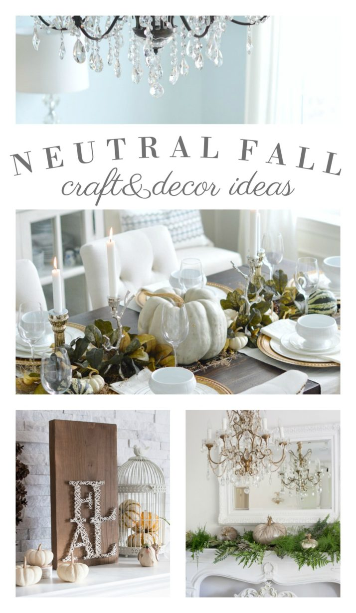 Neutral Fall Craft and Decorating Ideas - Fox Hollow Cottage