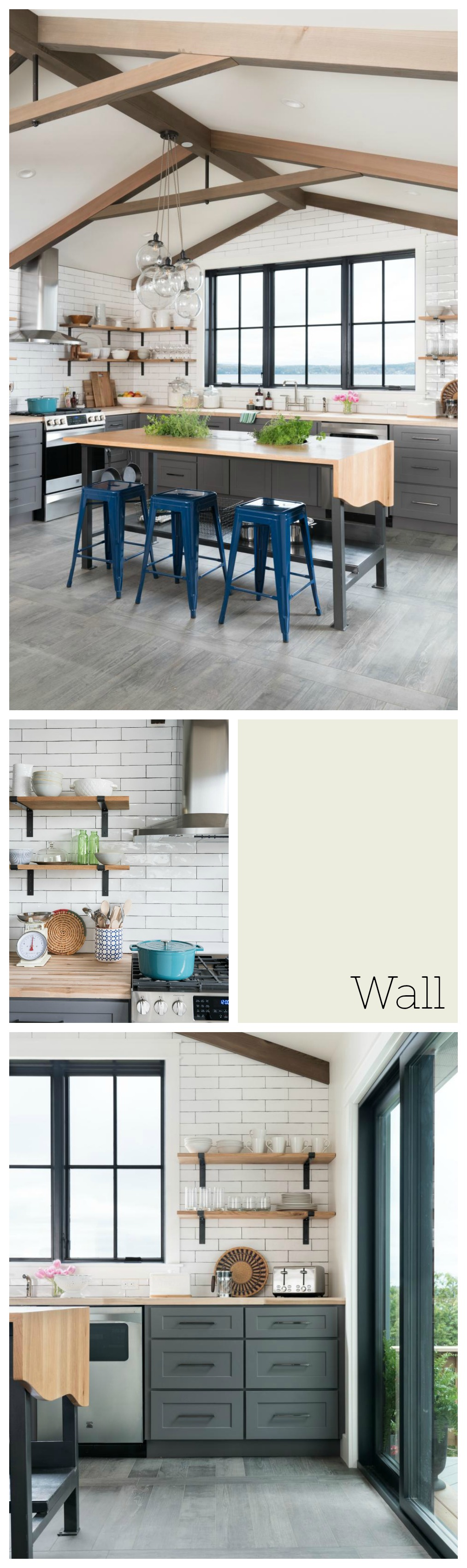 Whole home neutral paint palette with color fox hollow - Glorious grey walls kitchen telling shades neutral ...