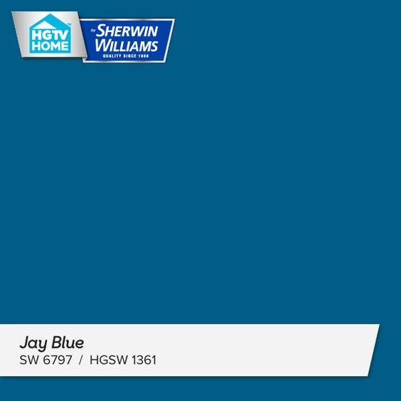 HGTV Home Sherwin Williams Jay Blue | Ultimate Retreat Whole Home Paint Color Palette, Home Tour