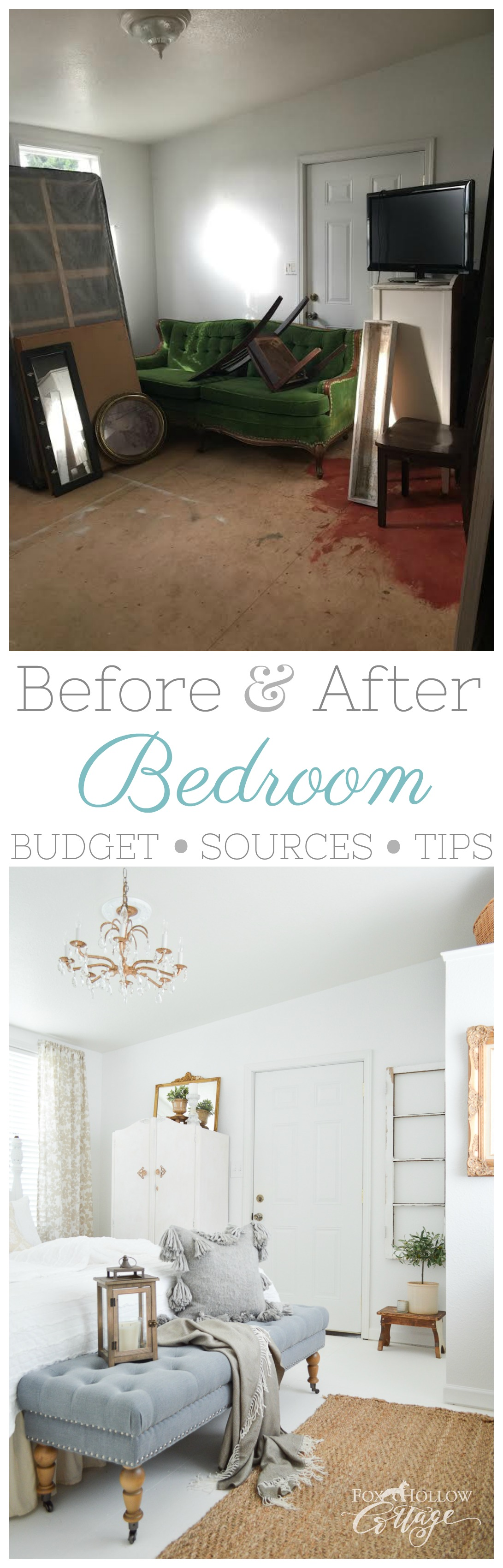 before and after bedroom makeover budget breakdown with costs sources tips and more