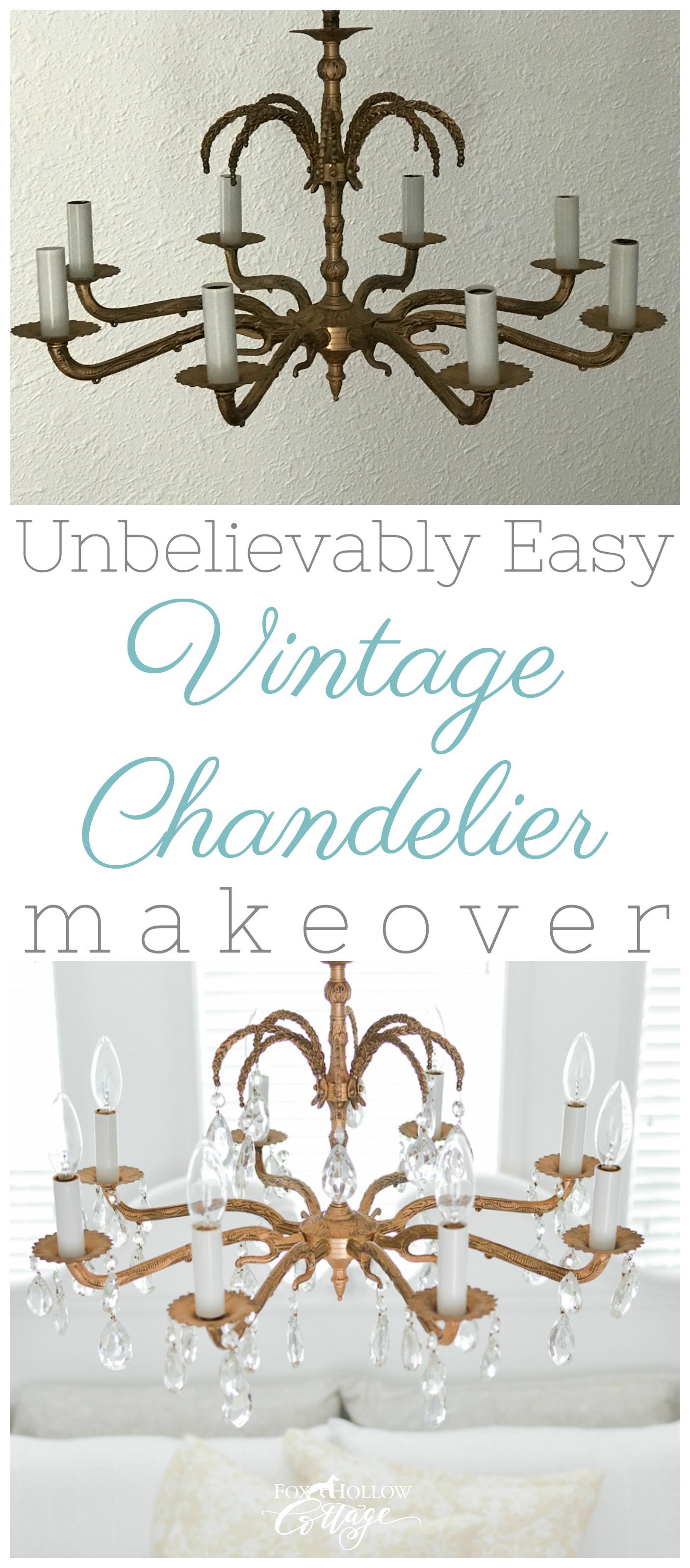 vintage chandelier makeover
