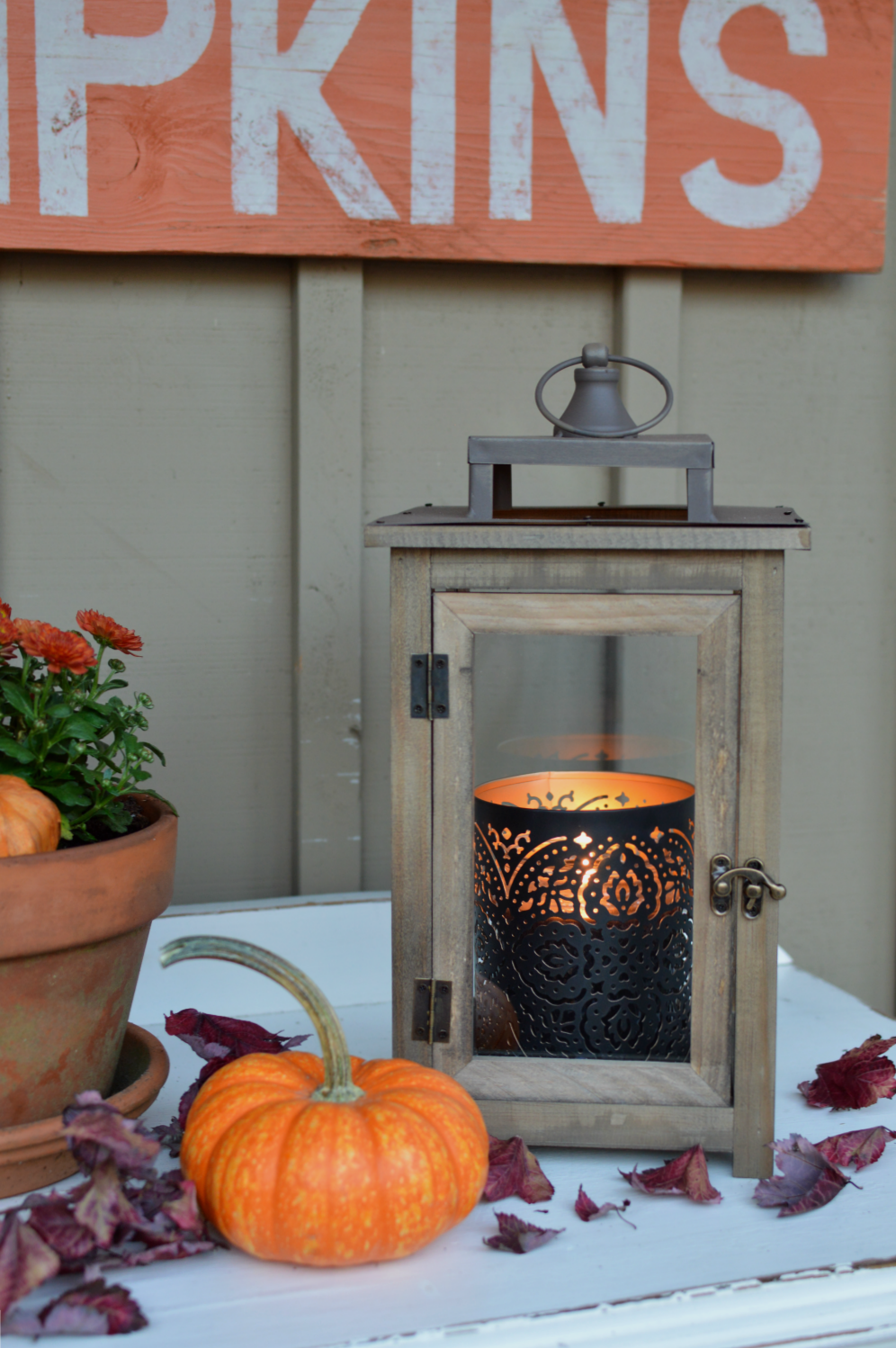 Vintage Cottage Fall Porch