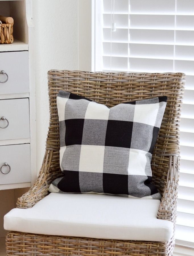 Black and white buffalo check pillow covers -affiliate shopping link