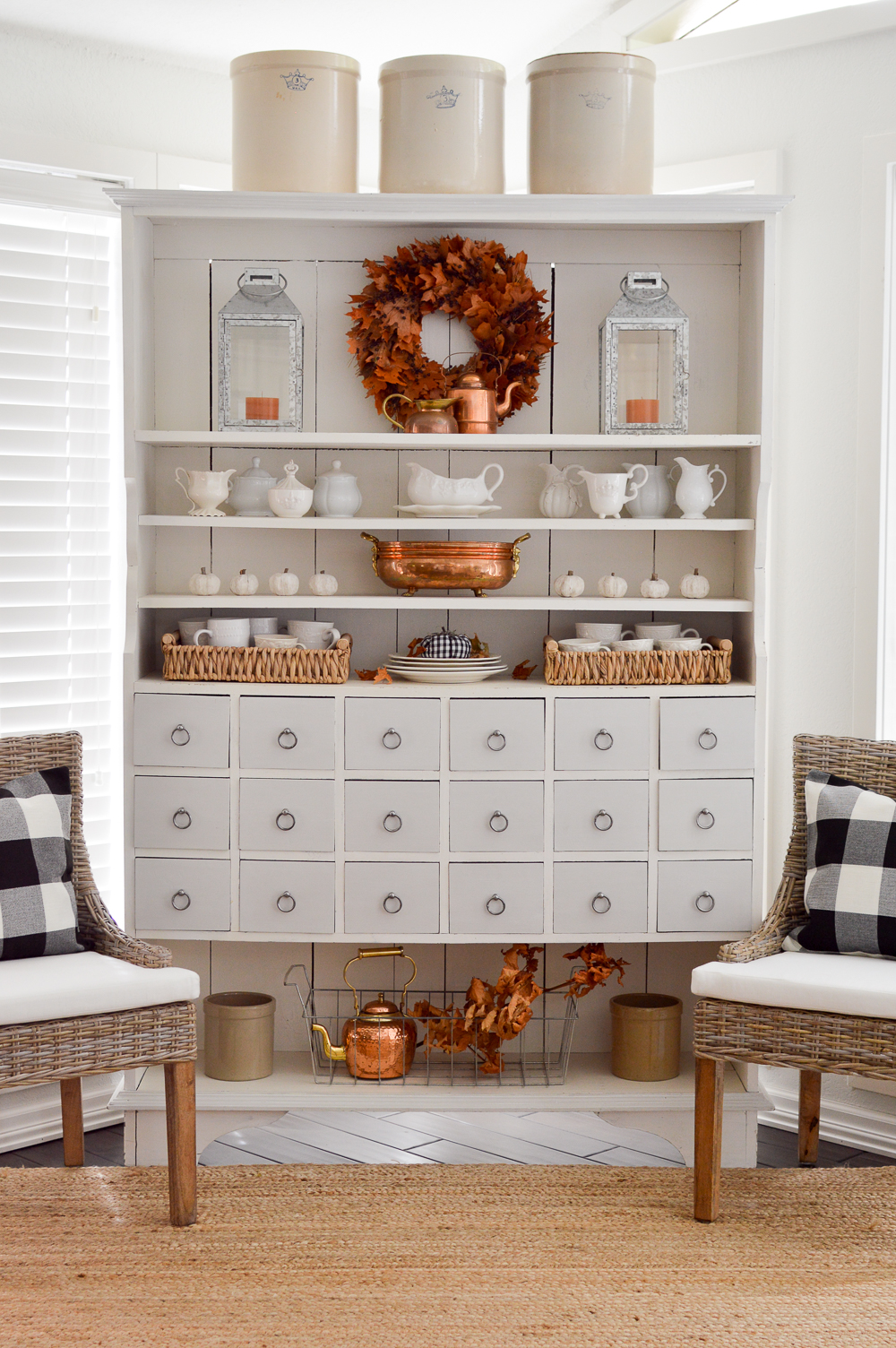 Cottage Kitchen Apothecary Cabinet: a sensible storage solution
