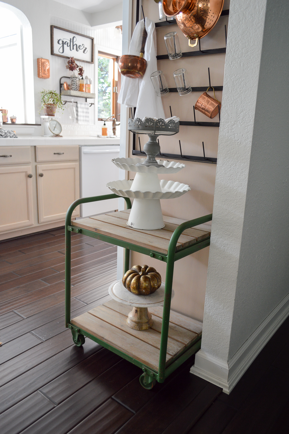 Fall Vintage Kitchen Decorating - Fox Hollow Cottage