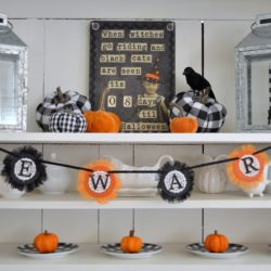 Classic Black and Orange Halloween Decorating