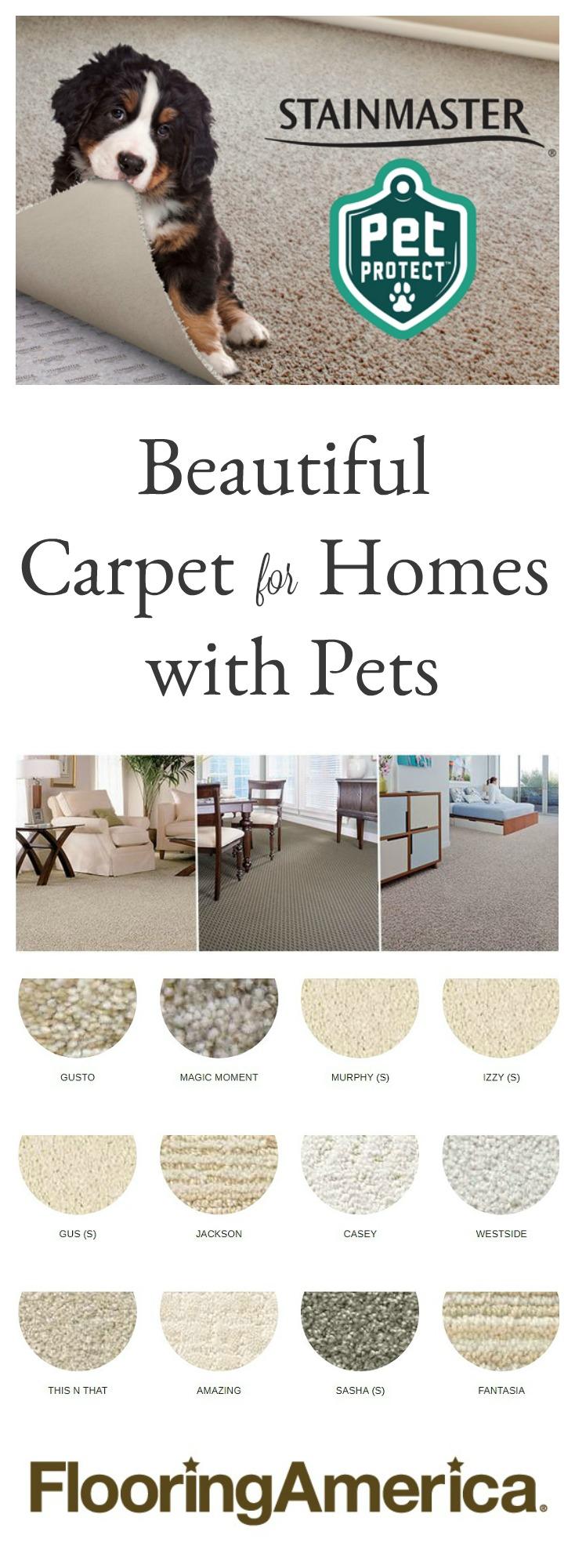 Flooring America Stainmater Petprotect Carpet - Pet & Kid Friendly Carpet, Finally! sponsored pin