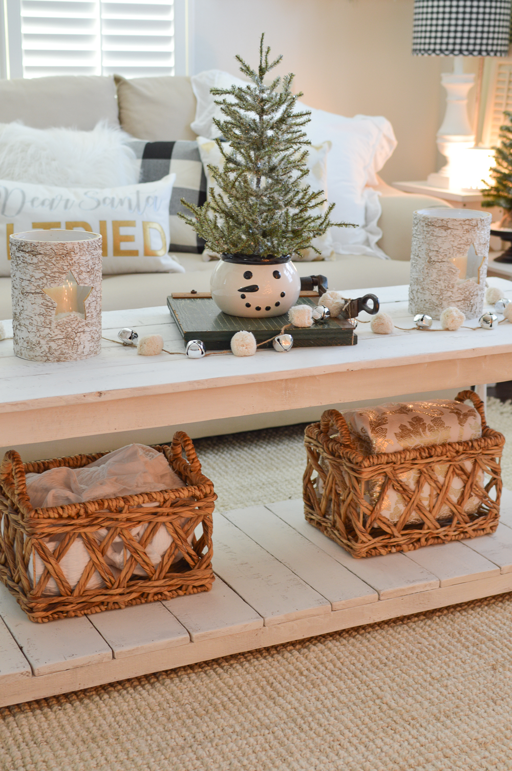 Calm Cozy Christmas Living Room. Simple, Stress-Free Holiday Decorating Ideas at Fox Hollow Cottage
