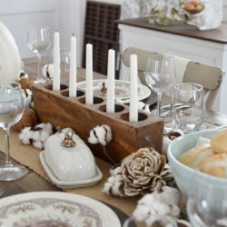 Cottage Farmhouse Thanksgiving Turkey Tablescape