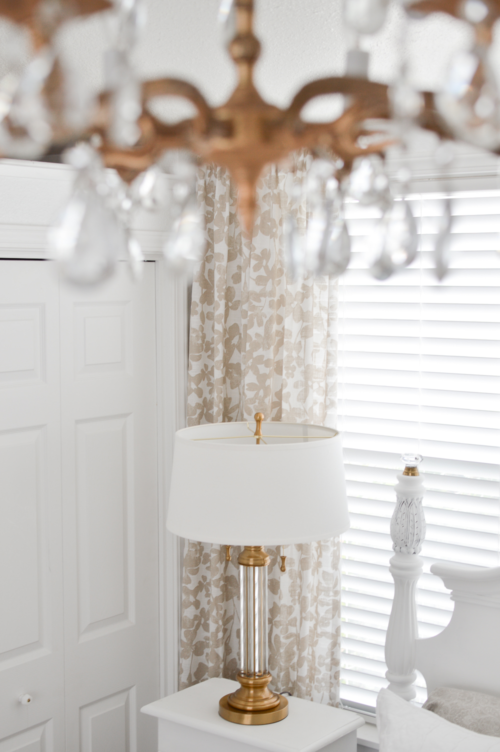 How To Pick The Perfect Lighting - Light Fixture Guidelines & Tips at www.foxhollowcottage.com featuring Lamps Plus Rolland Brass/Crystal Table Lamp #ad