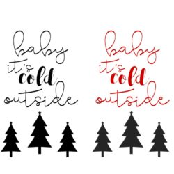 4 Free Baby It's Cold Outside Christmas Printables