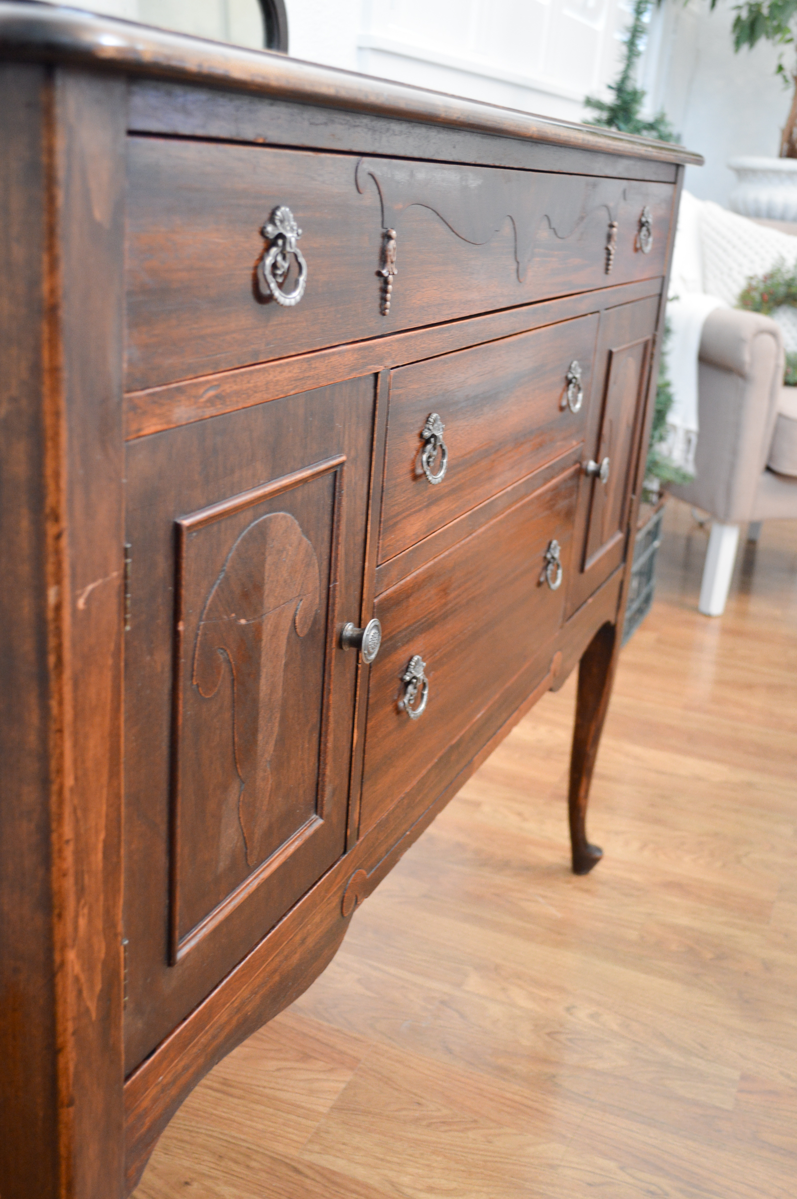 Antique Buffet, After Orange Glo Wood Polish #ad