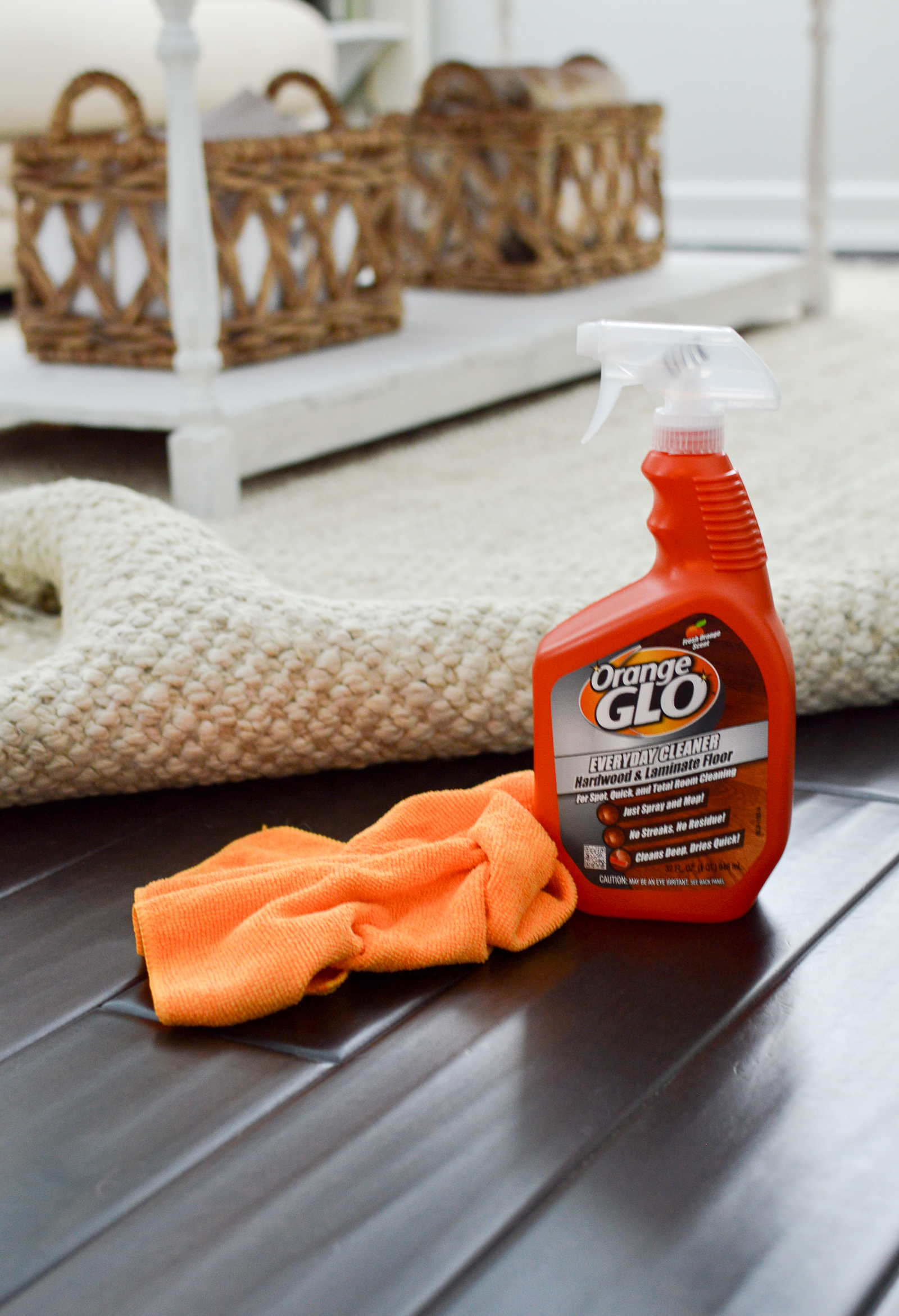Everything You Want To Know About Our Wood Floors - How I'm using Orange Glo to clean my hardwood floors #ad